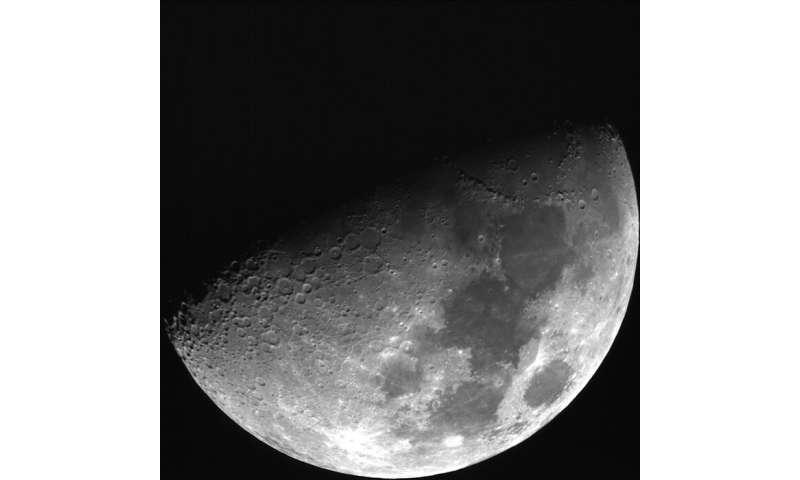 Sparkles on the moon