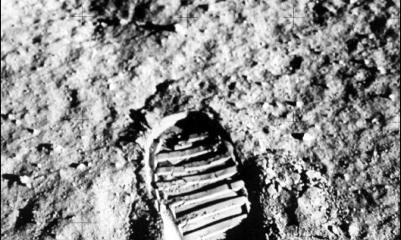 Footprint on the Moon from one of the Apollo 11 astronauts