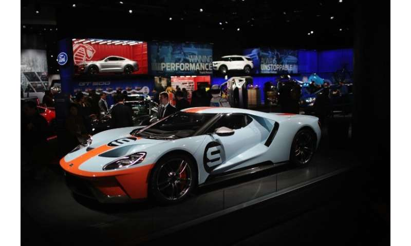 Ford shows off their GT at the North American International Auto Show (NAIAS), one of the sporty options on display