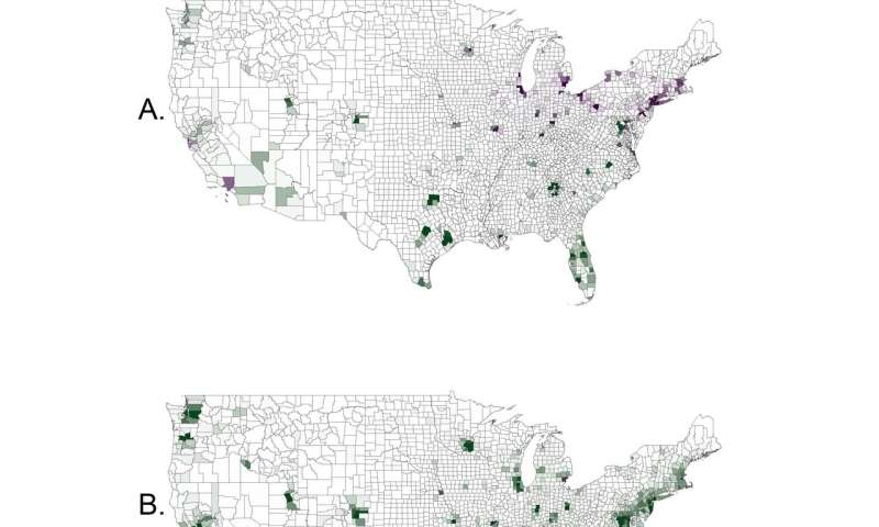Forecasting US economic and demographic shifts at higher resolution