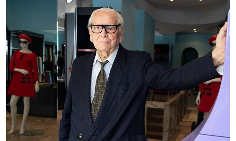 """French designer Pierre Cardin saluted """"a great leap forward for humanity"""""""
