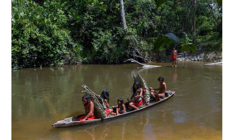 From Amazon rainforests to the Arctic Circle, indigenous peoples are under siege. Waiapi people cross the Feliz river by barge i