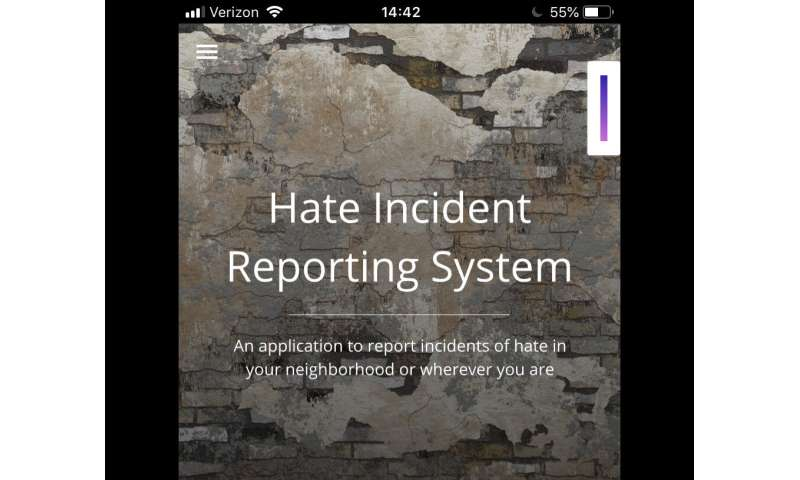 Hate incidents are notoriously underreported; now, there's an app for that