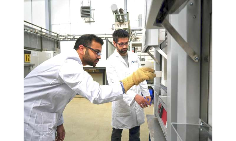 High-tech material in a salt crust
