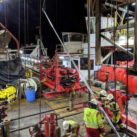 How a drilling ship pulls cores from 2.5 miles below the sea
