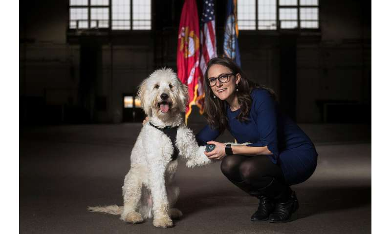 How do we know service dogs help veterans with PTSD?