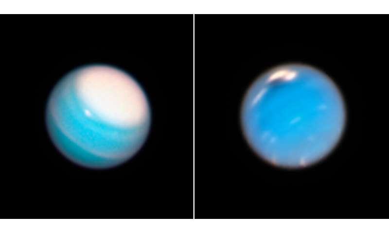 Hubble reveals dynamic atmospheres of Uranus, Neptune