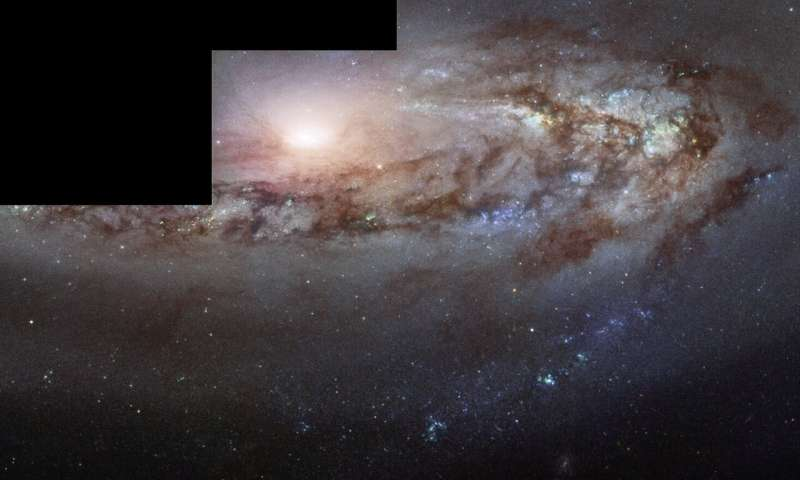 Hubble spies curious galaxy moving a little closer