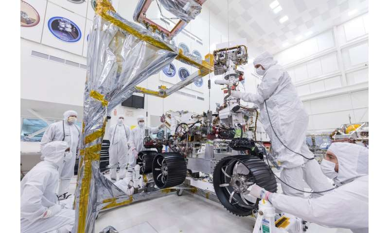 Image: Mars 2020 rover gets its wheels