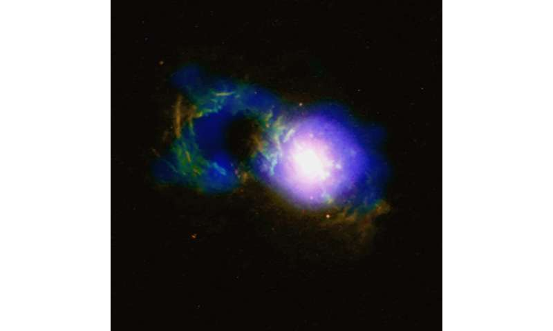 Image: Storm in the Teacup quasar