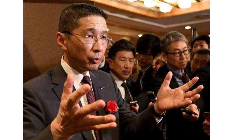 In an interview, Nissan CEO Hiroto Saikawa (L) brushed aside suggestions that the alliance with Renault had been damaged by the