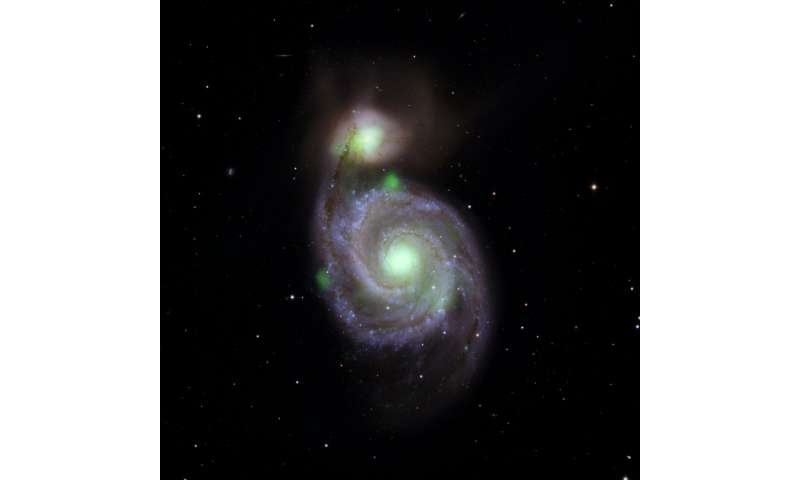 In colliding galaxies, a Pipsqueak shines brightly