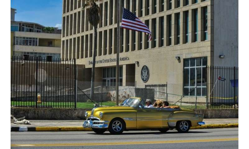 In late 2016, diplomats working at the US embassy in Havana—seen here in 2017—began reporting ear pain and other symptoms from a