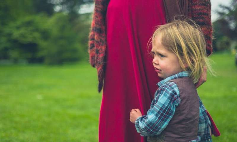 Is my child being too clingy, and how can I help?