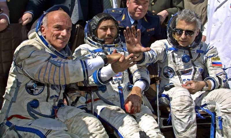 Italian-American multi-millionaire Dennis Tito, left, was the first space tourist, paying Russia around $20 million for his eigh