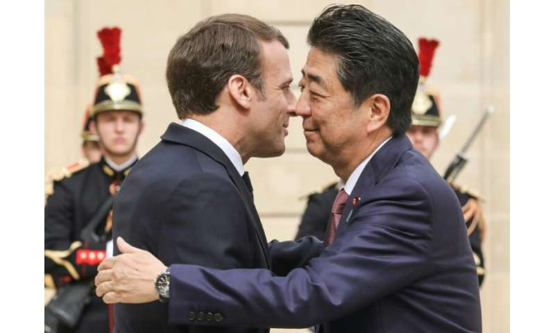 It wasn't clear whether the Ghosn scandal was addressed at talks between French President Emmanuel Macron and Japan's premier Sh
