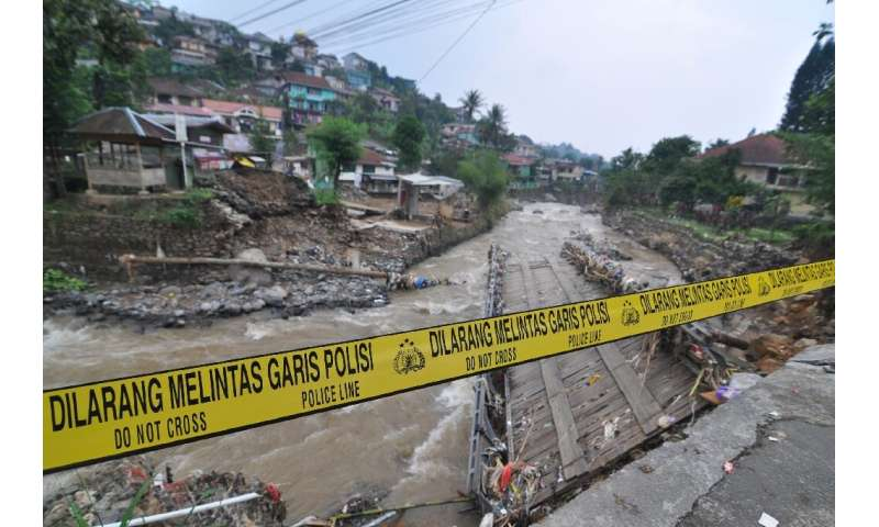 Landslides and floods are common in Indonesia especially during the monsoon season between October and April