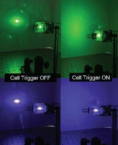 Liquid crystals could help to counteract laser pointer attacks on planes