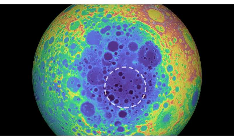 Mass anomaly detected under the moon's largest crater