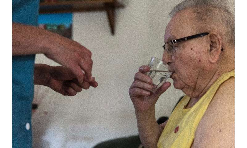 Medics warned the elderly were particularly at risk from dehydration in the heatwave