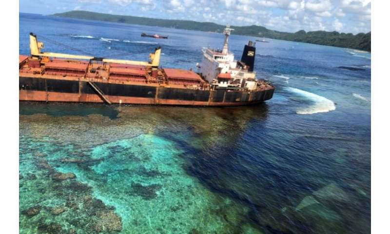 MV Solomon Trader ran aground on February 5 while loading bauxite at remote Rennell Island, some 240 kilometres (150 miles) sout