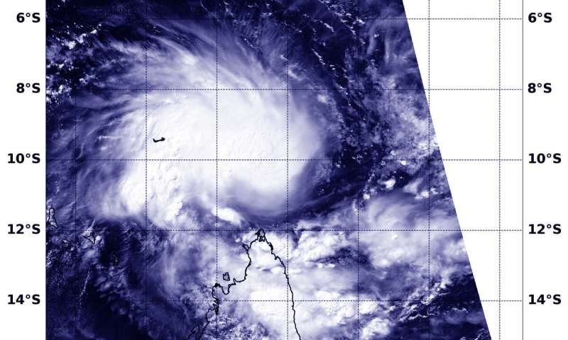 NASA catches formation of Tropical Cyclone Kenneth near Aldabra