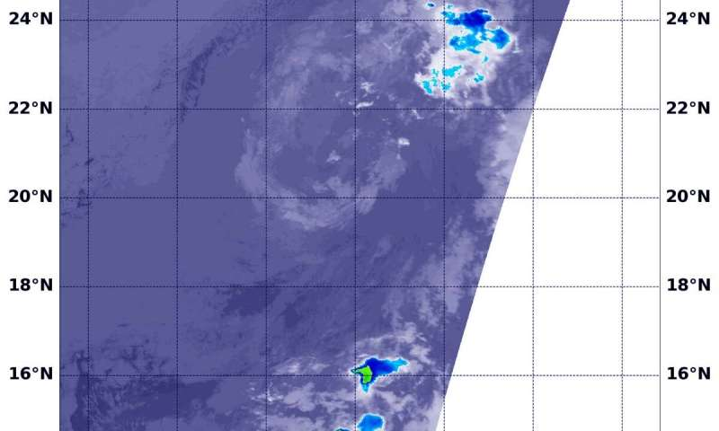 NASA catches Post Tropical Cyclone Cosme fading