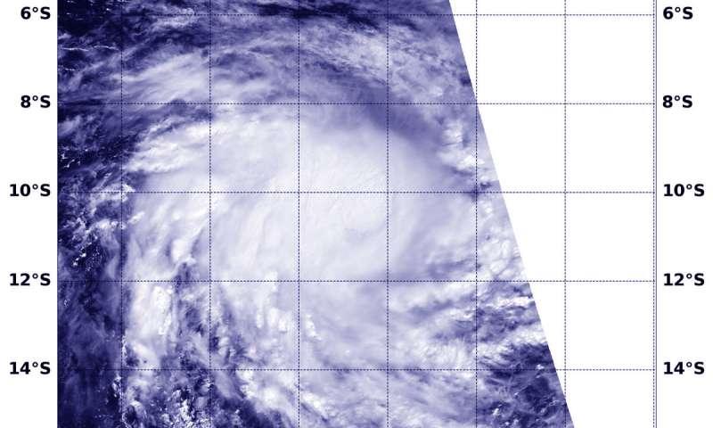 NASA finds a more circular Tropical Cyclone Lorna