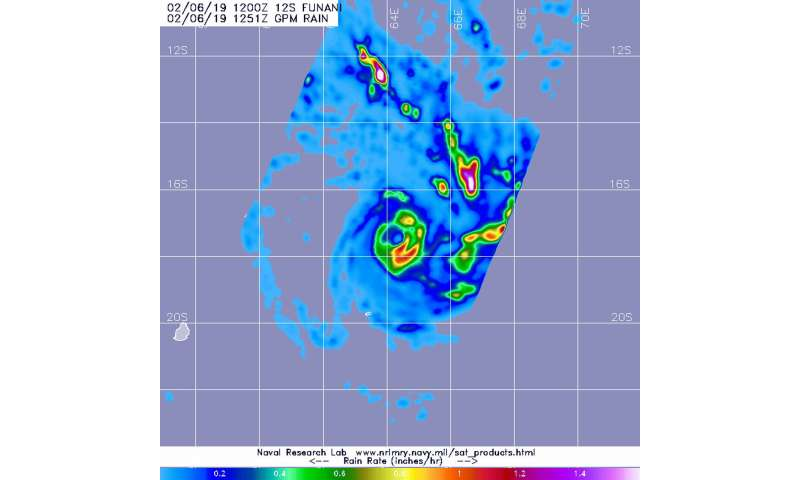 NASA looks at Tropical Storm Funani's rainfall