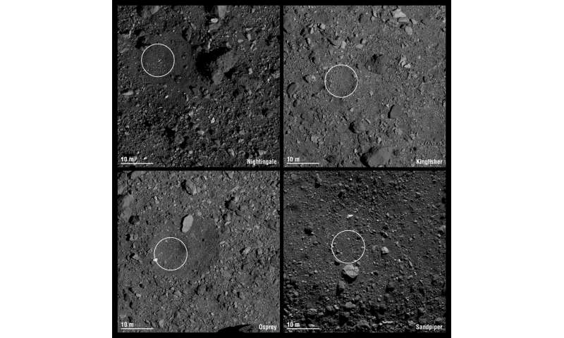 NASA mission selects final four site candidates for asteroid sample return