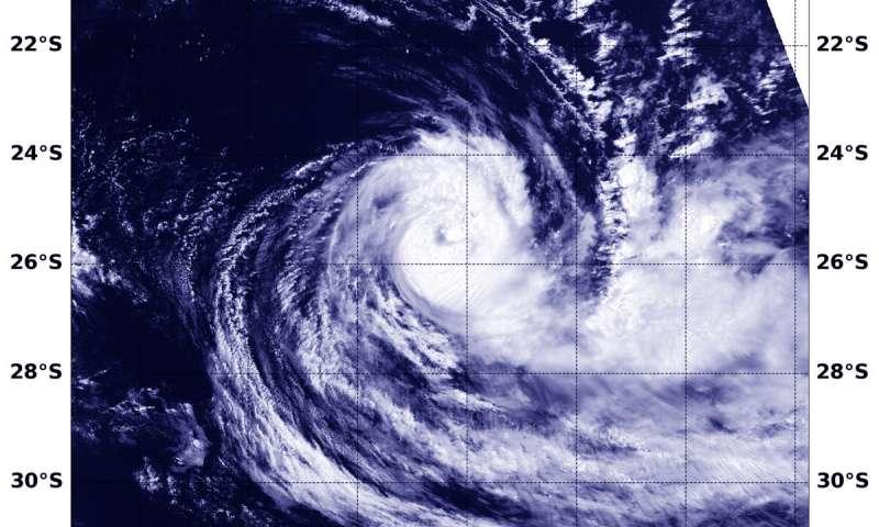 NASA-NOAA satellite finds Tropical Cyclone Gelena sheared
