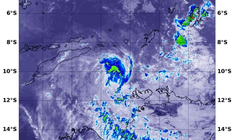 NASA Northern quadrant strength in Tropical Cyclone Lili