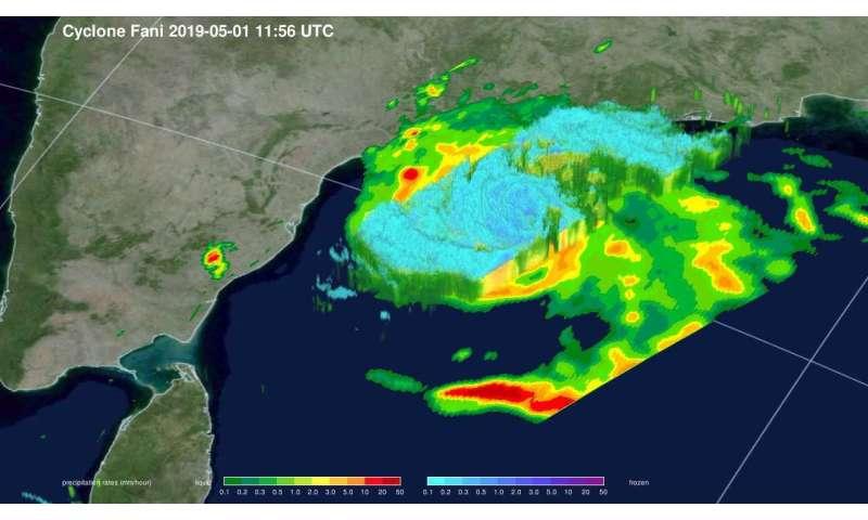 NASA reveals heavy rainfall in Tropical Cyclone Fani