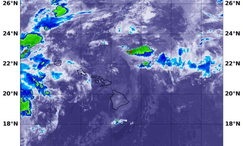 NASA sees Flossie now a remnant low pressure area