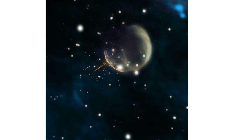 NASA's Fermi Satellite clocks 'cannonball' pulsar speeding through space