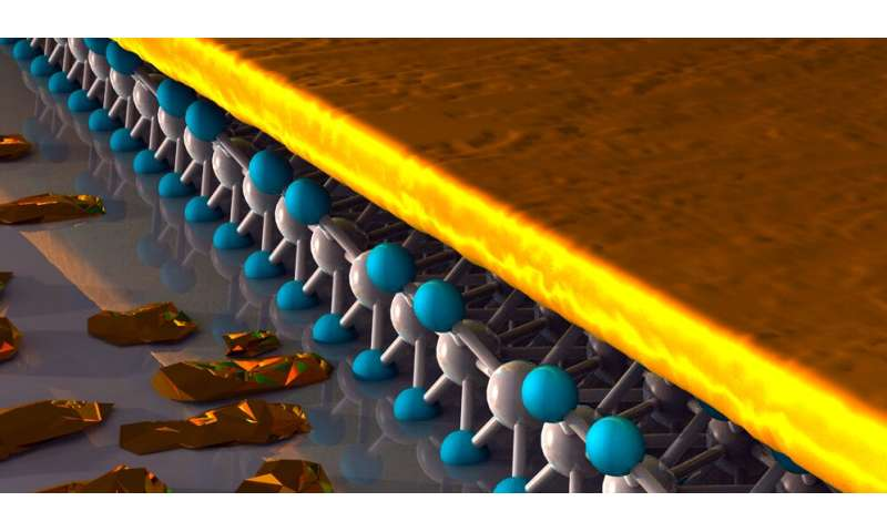 New Flatland material: Physicists obtain quasi-2D gold