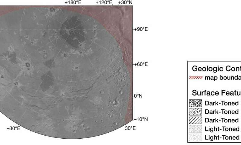 New card reveals geology and history of Pluto's moon Charon