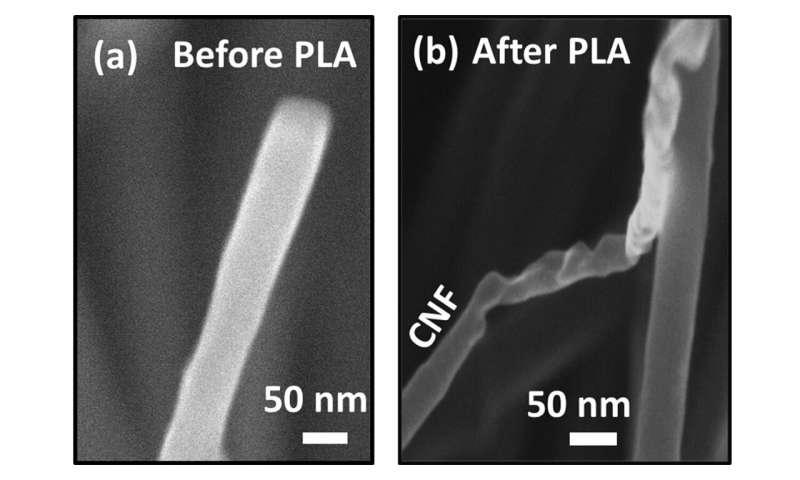 New method allows direct conversion of carbon fibers and nanotubes into diamond fibers