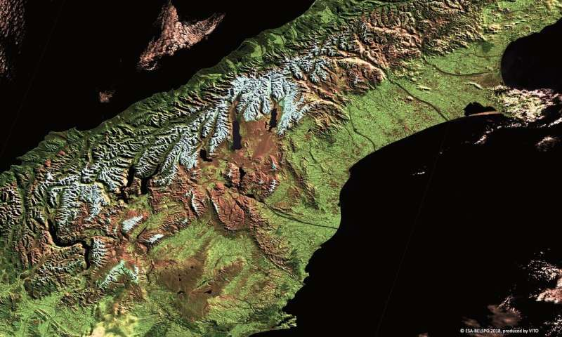 New Zealand's South Island imaged by Proba-V