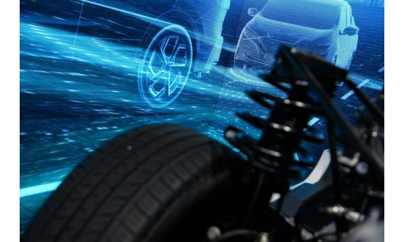 Nissan cars on display at the Geneva International Motor Show