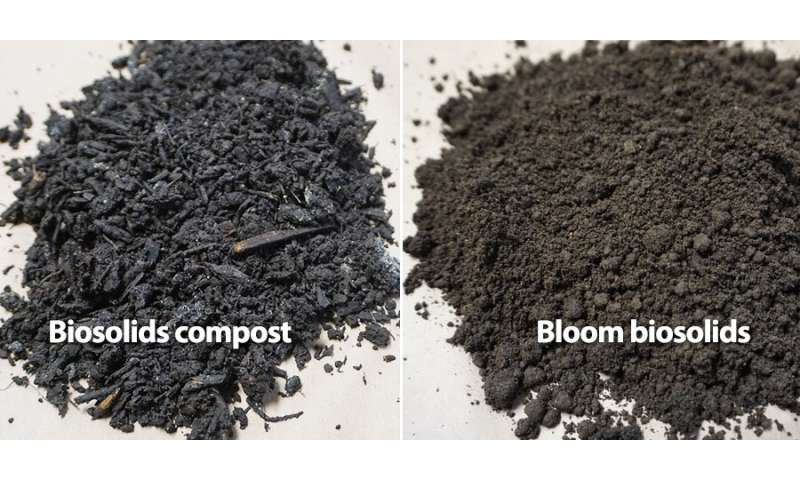Nitrogen from biosolids can help urban soils and plant growth