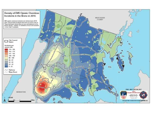 Nurses use FDNY geospatial mapping of opioid overdoses to inform clinical practice in real time