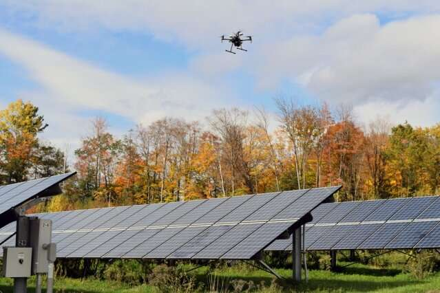 Optimizing solar farms with smart drones