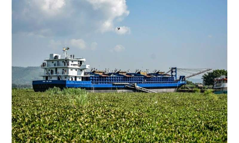 Owned by a Chinese company, the MV Mango Tree helps to unclog waterways for boats slowed down by silting, pollution and weeds.
