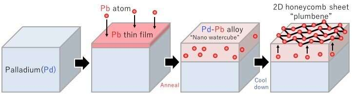 Plumbene, graphene's latest cousin, realized on the 'nano water cube'