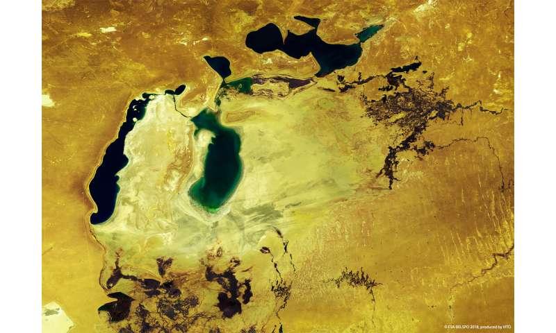 Proba-V view of Aral Sea
