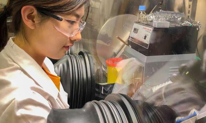 Quantum rebar: Quantum dots enhance stability of solar-harvesting perovskite crystals