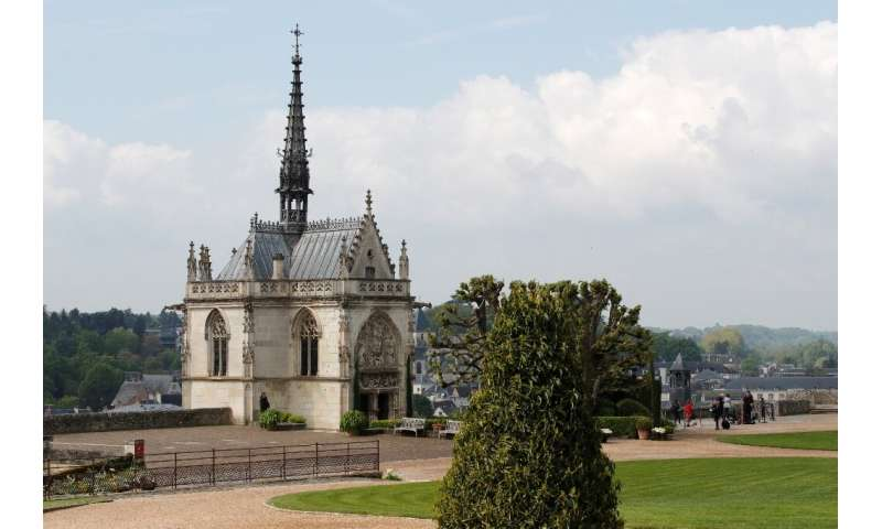 """Remains buried at the chapel of Saint Hubert in central France's Loire Valley are """"presumed"""" to be those of the Italia"""
