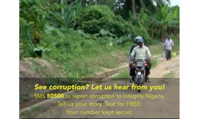 Reports of corruption increase in Nigeria after film and text campaign