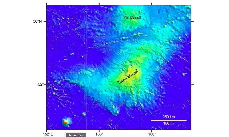 Research yields new clues to the origin of Tamu Massif